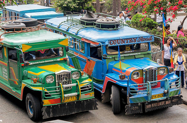philippine jeepneys - philippines girl stock photos and pictures