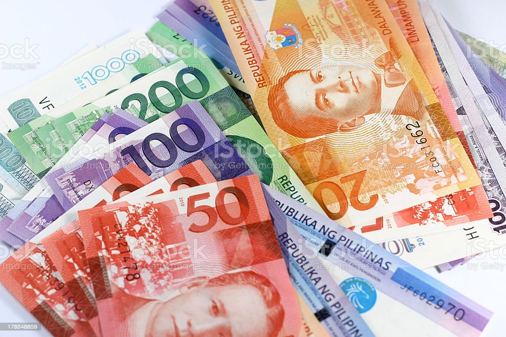 Philippine Peso Bills stock photo