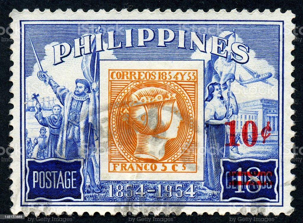 Philippine postage stamp, 100 Year anniversary stock photo