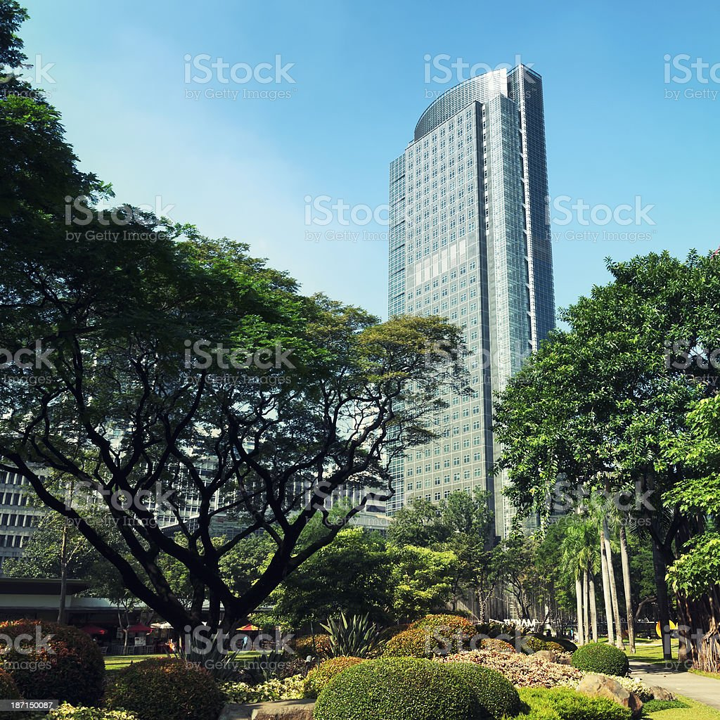Philippine Stock Exchange Building, Manila - Philippines royalty-free stock photo
