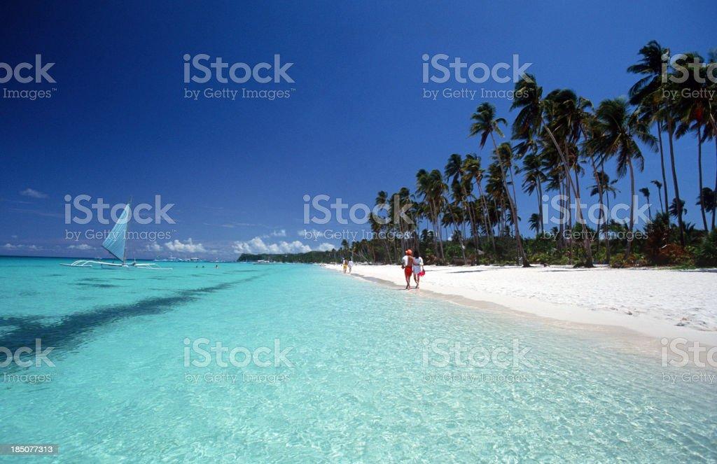 Philippines, Aklan Province, Boracay Island. stock photo