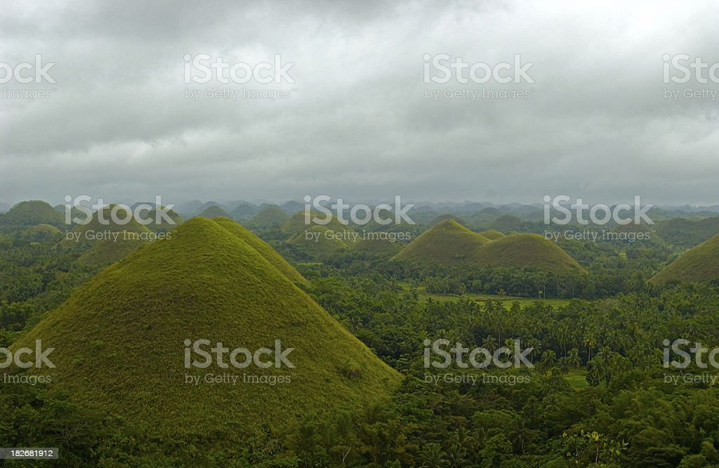 Philippines Asia Chocolate Hill royalty-free stock photo