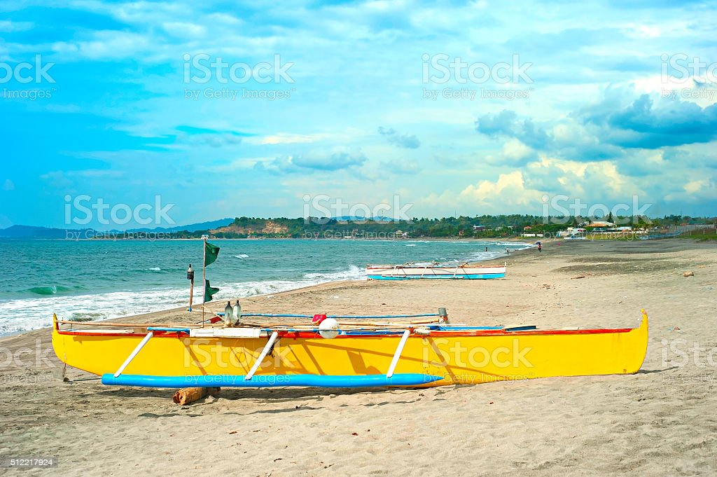 Philippines beach with beautiful sky stock photo