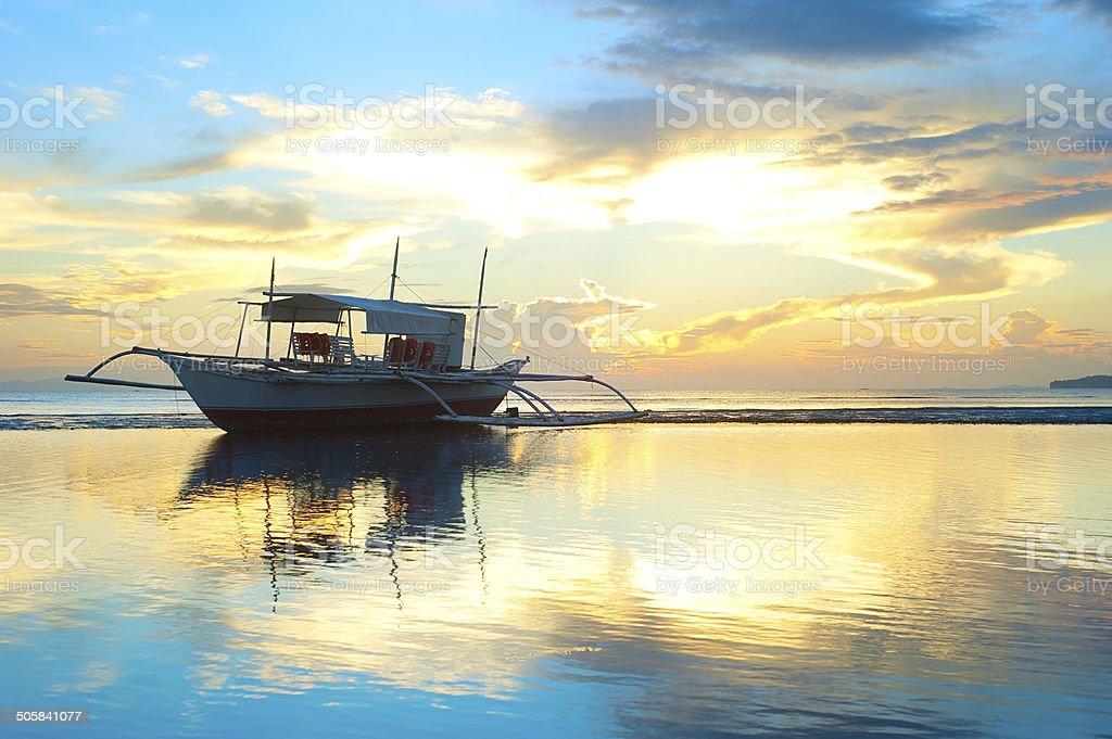 Philippines boat stock photo