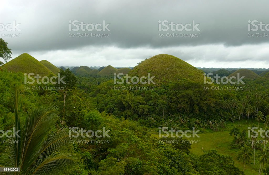 Philippines Bohol Asia Chocolate Hill royalty-free stock photo