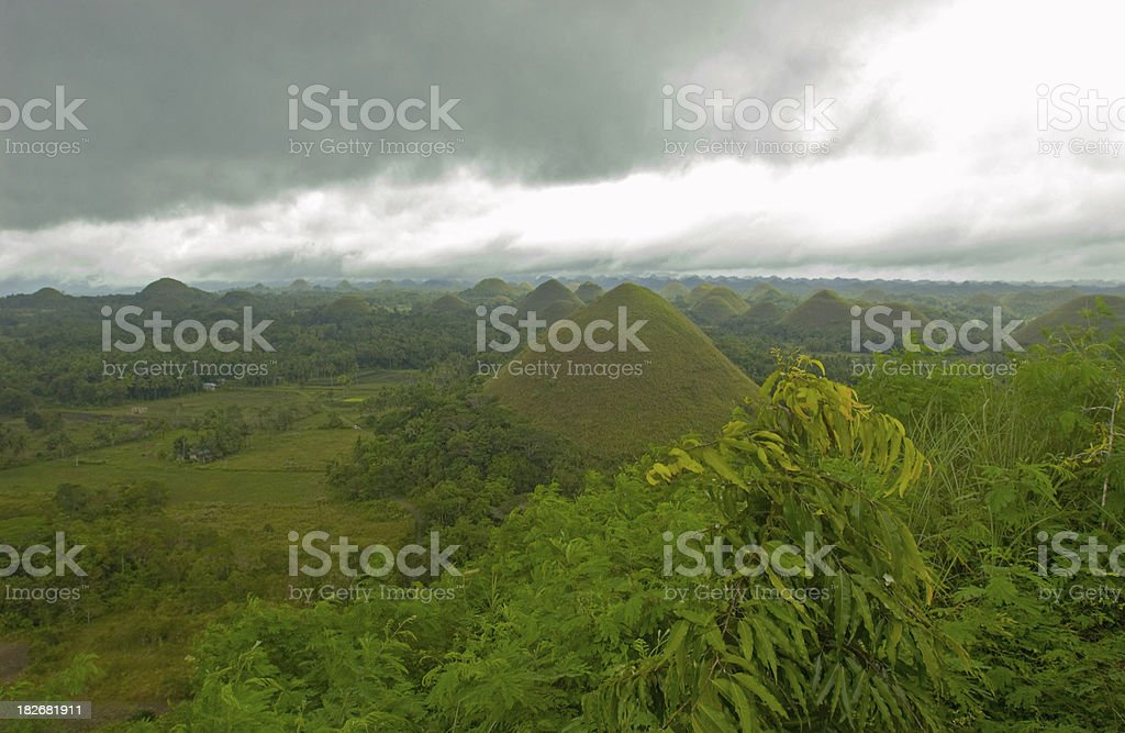 Philippines Chocolate Hills Bohol Asia royalty-free stock photo