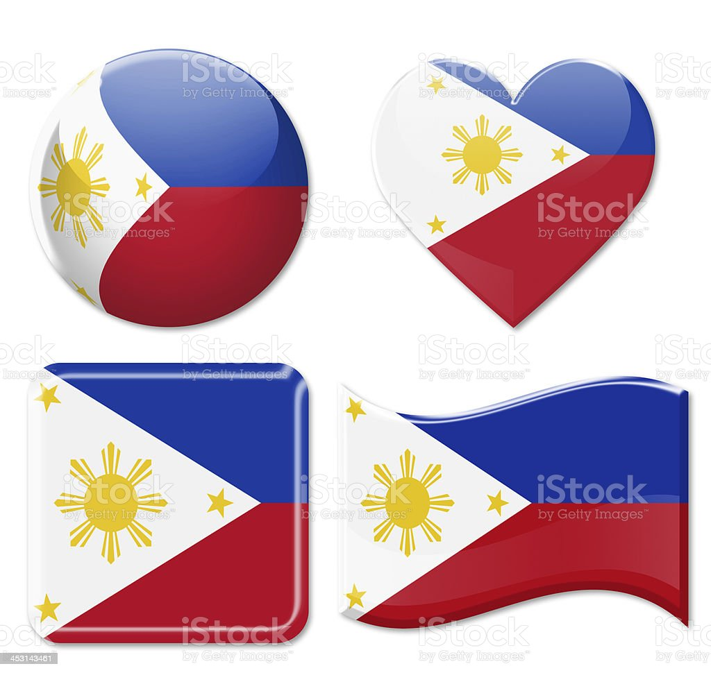 Philippines Flags & Icon Set stock photo