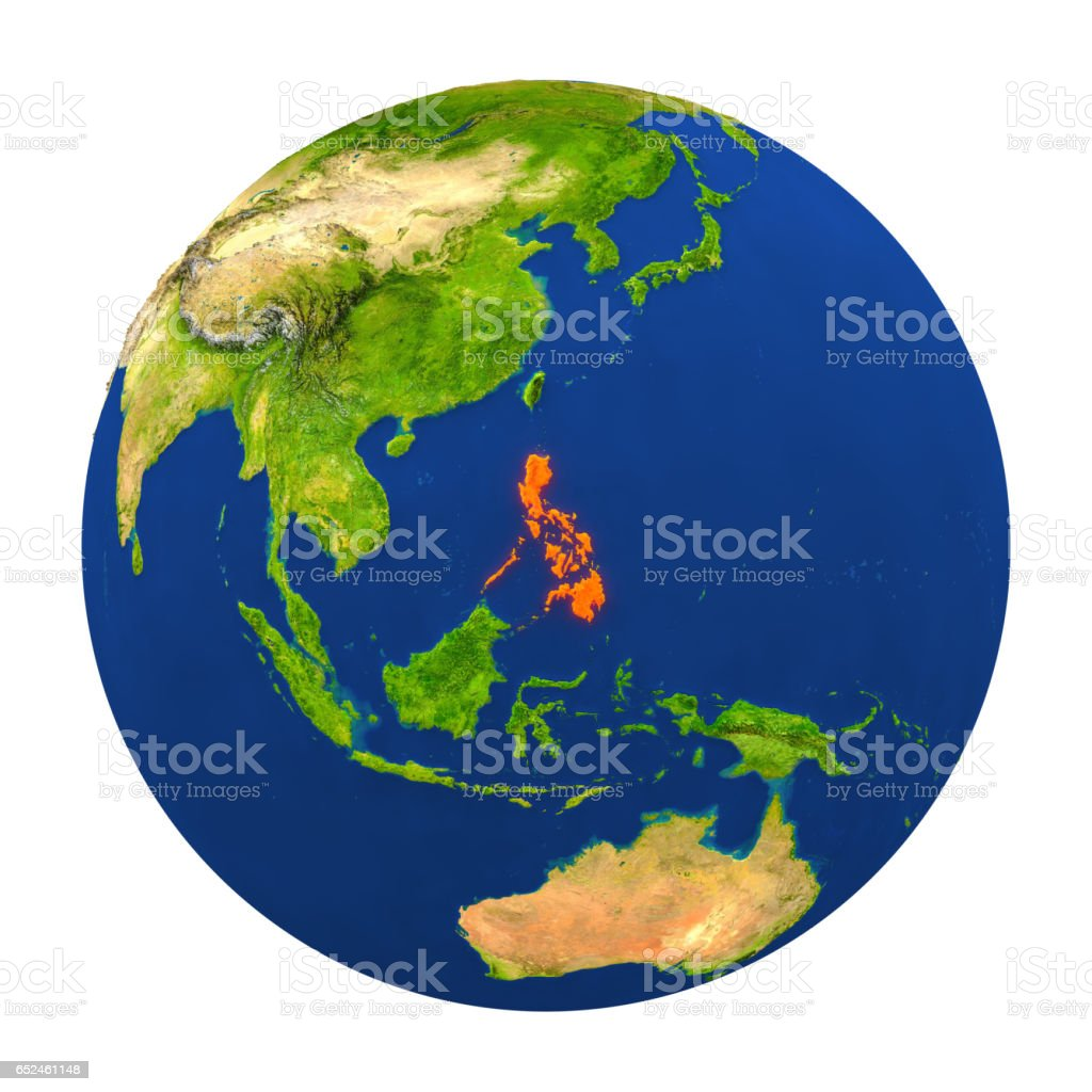 Philippines Highlighted On Earth Stock Photo Download Image Now Istock