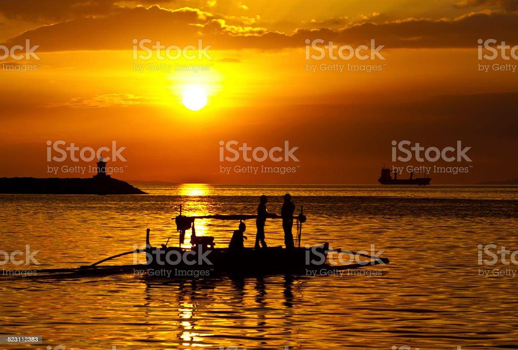 Philippines, Manila Bay Sunset stock photo