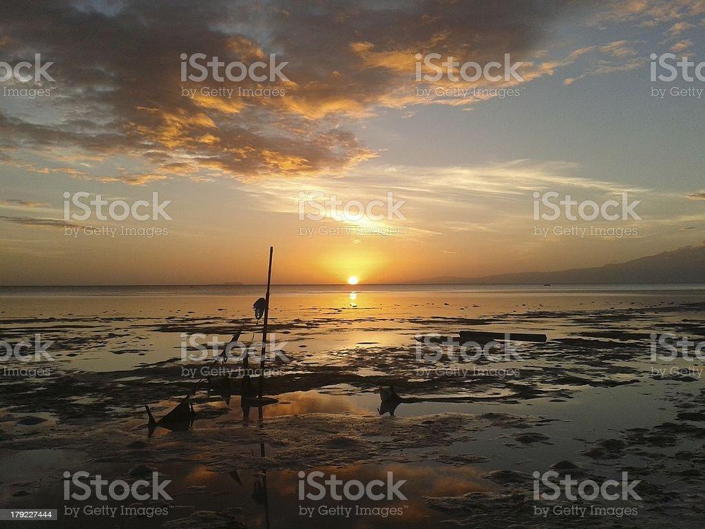 Philippines sun set stock photo