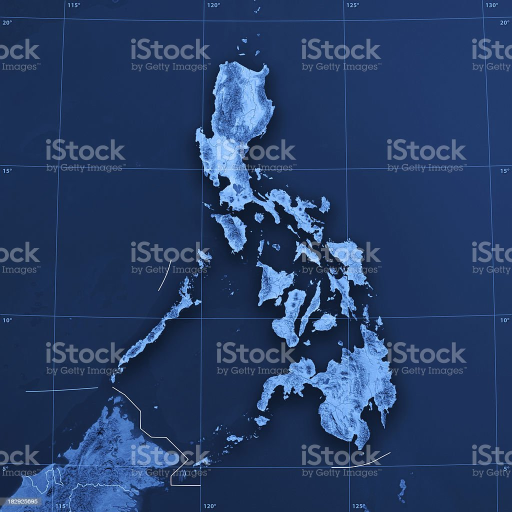 Philippines Topographic Map royalty-free stock photo