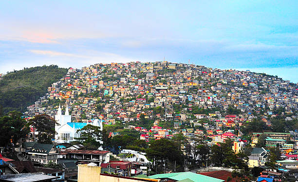 philippines town - baguio city stock photos and pictures