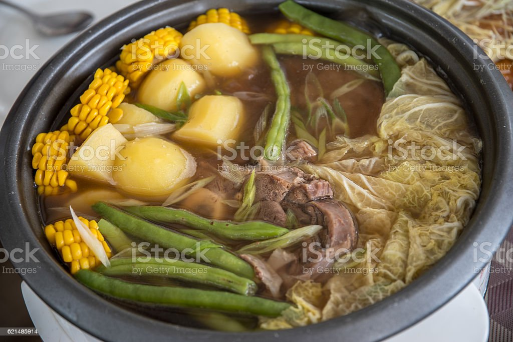 philippines traditional food - Bulalo Lizenzfreies stock-foto