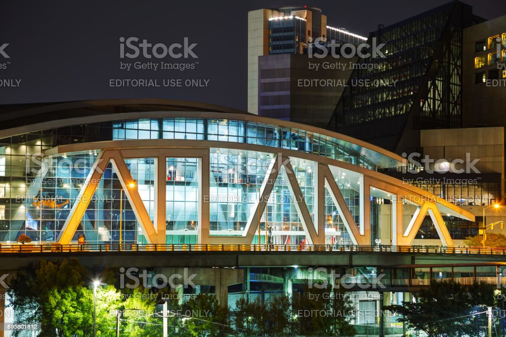 Philips Arena and CNN Center in Atlanta, GA stock photo