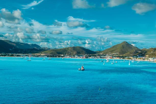 Philipsburg St. Maarten stock photo