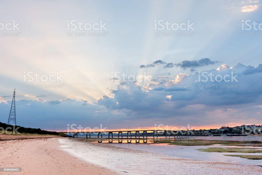 Phillip Island Bridge at sunrise. Melbourne, Victoria, Australia royalty-free stock photo