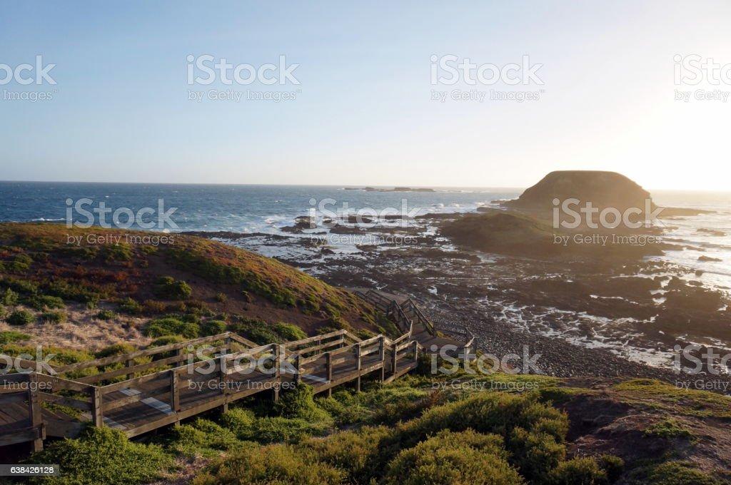 Phillip Island sunset view stock photo