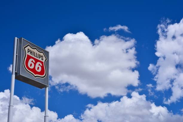 Phillips 66 gas station sign stock photo