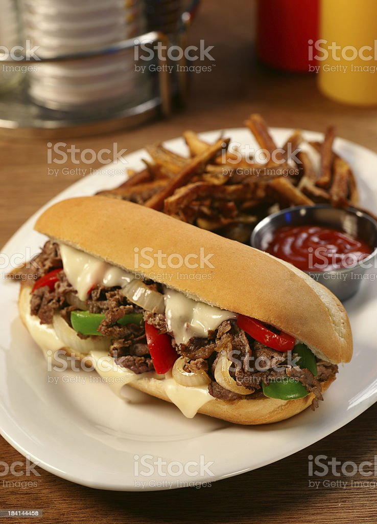 Philly Cheesesteak royalty-free stock photo