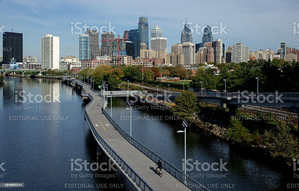 Philly Schuylkill Banks stock photo