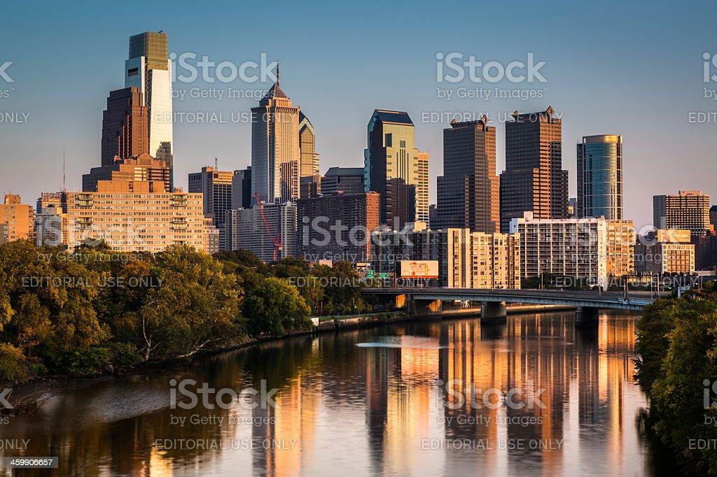Philly Skyline stock photo