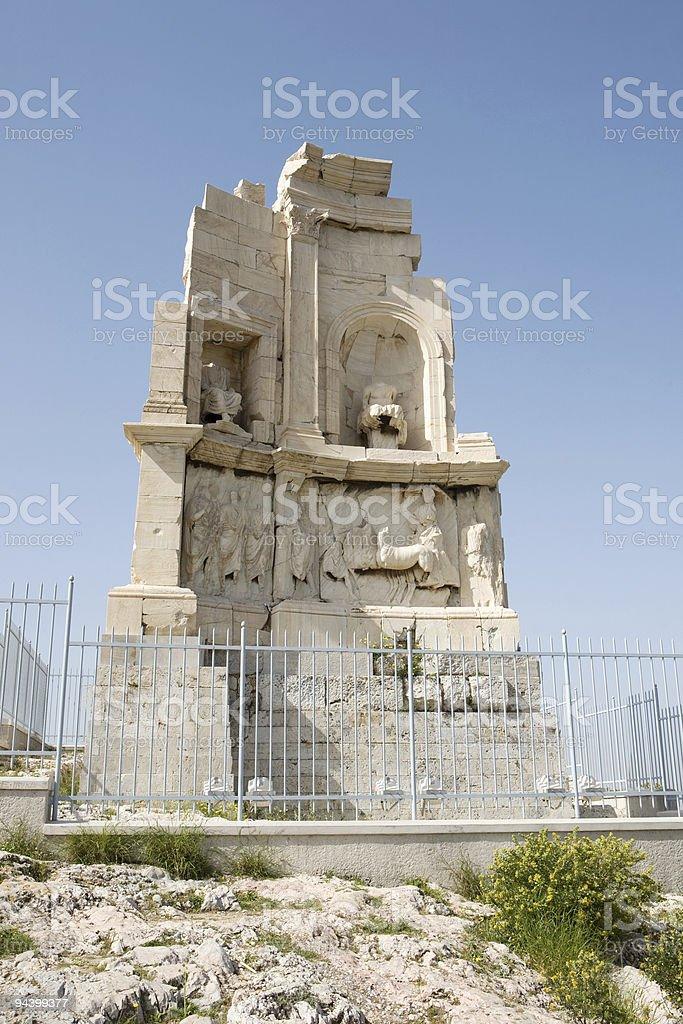 Philopappou monument royalty-free stock photo