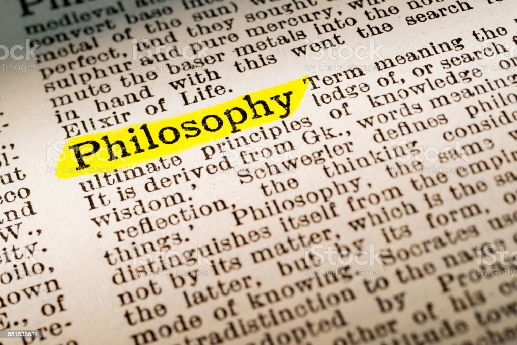 Philosophy - dictionary definition highlighted stock photo
