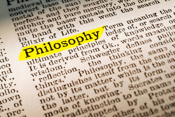 Philosophy - dictionary definition highlighted - foto stock