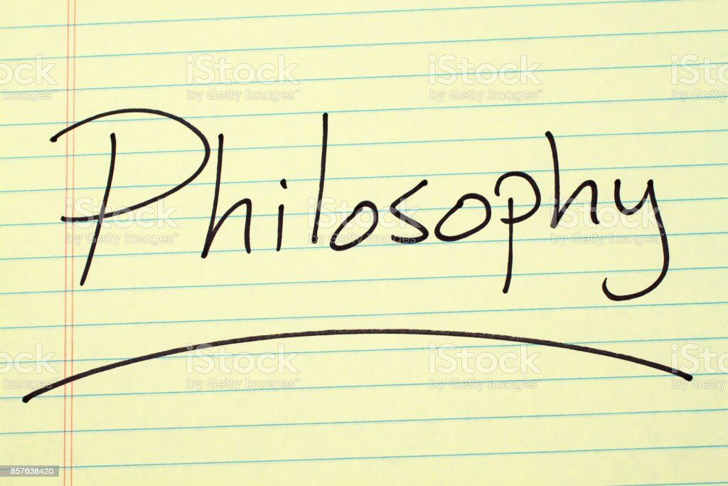Philosophy On A Yellow Legal Pad stock photo