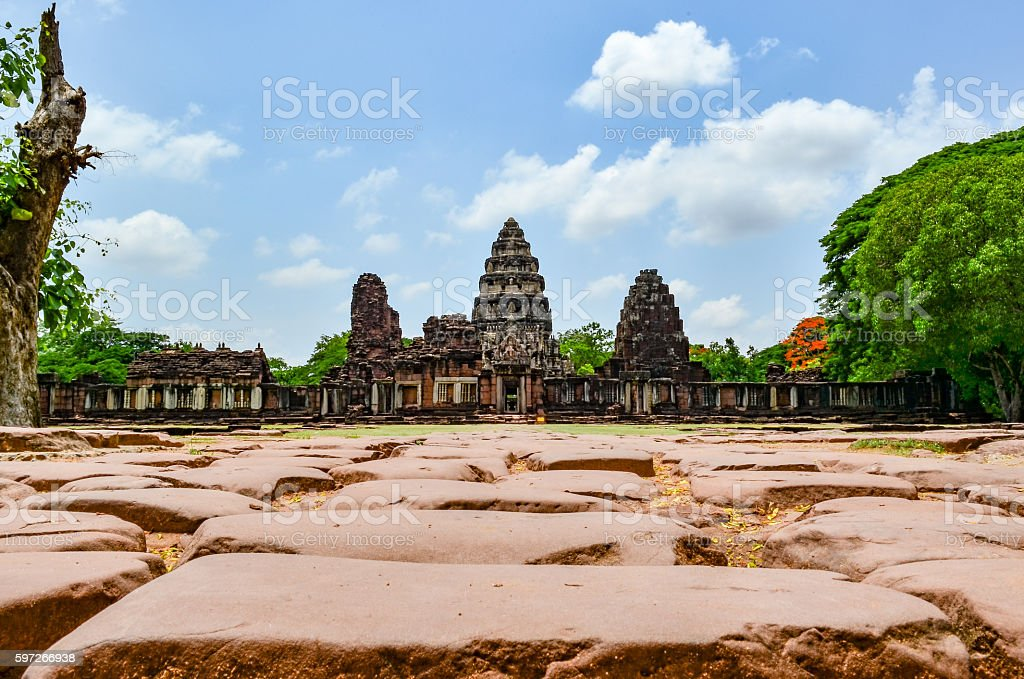 Phimai Stone Castle, Thailand Lizenzfreies stock-foto