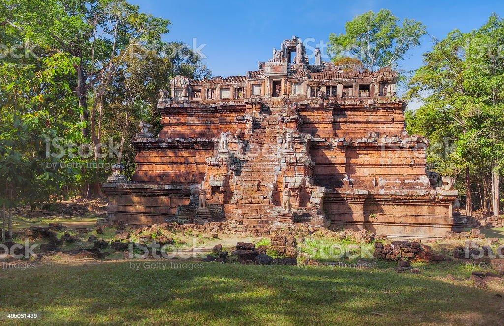 Phimeanakas Temple in Angkor Thom. stock photo