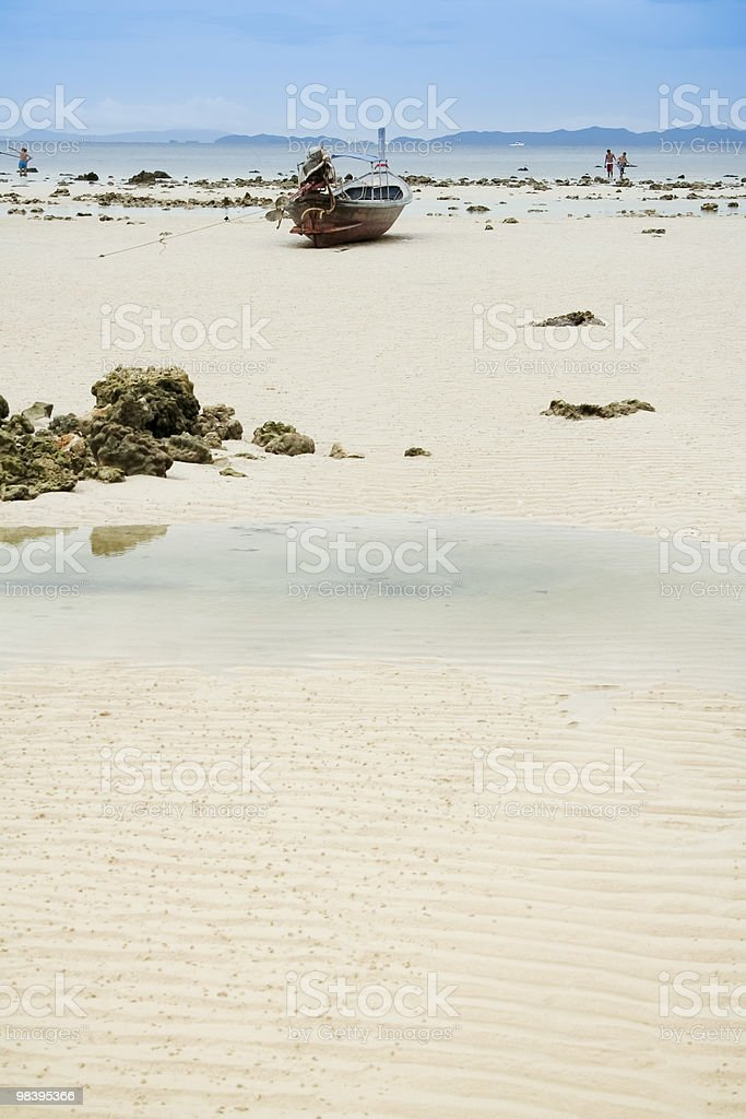 phiphi isalnd longtail beach royalty-free stock photo