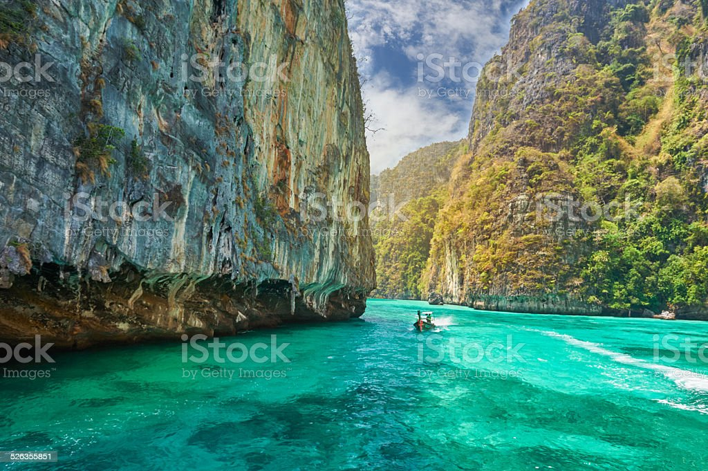 Phi-Phi island, Krabi Province, Thailand. stock photo