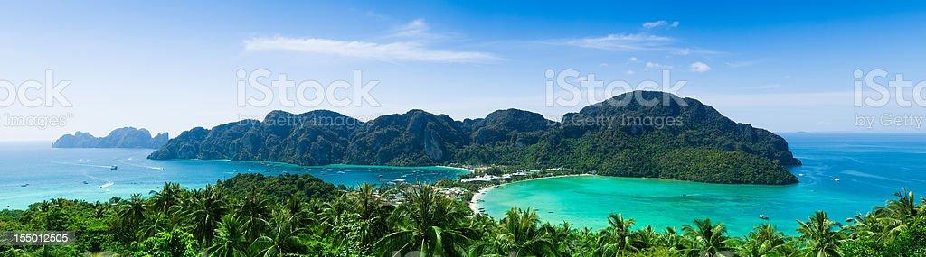 Phi-Phi island panorama royalty-free stock photo