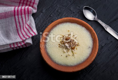 istock phirni - sweat rice pudding 963195142