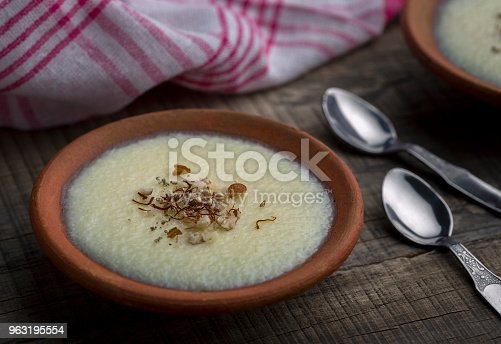 istock phirni - sweat rice pudding 963195554