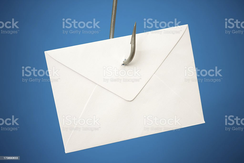 Phishing e-mail royalty-free stock photo