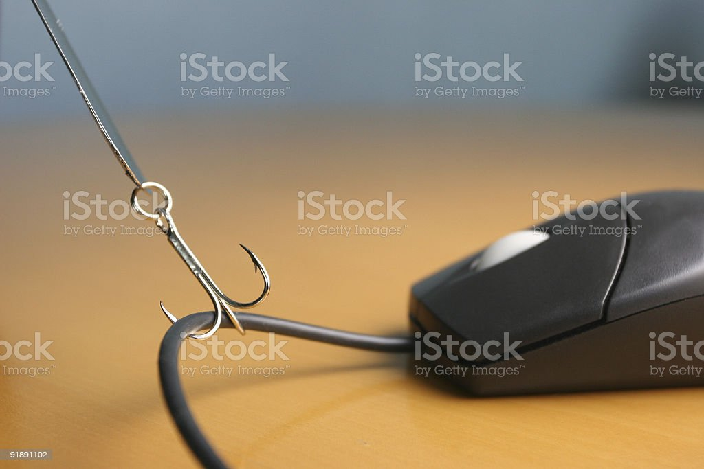 Phishing Hook stock photo