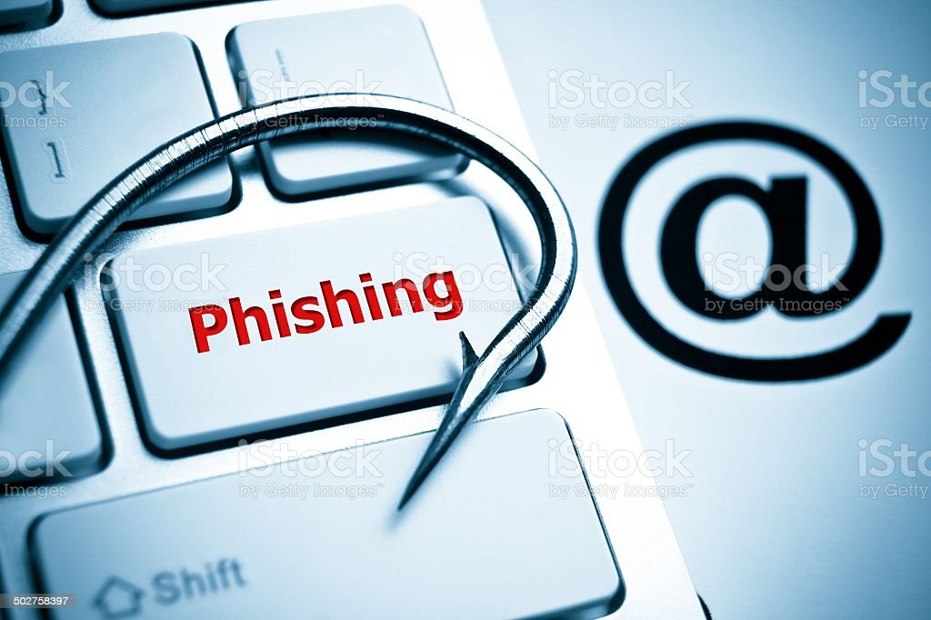 anti-phishing - Foto stock royalty-free di Amo da pesca