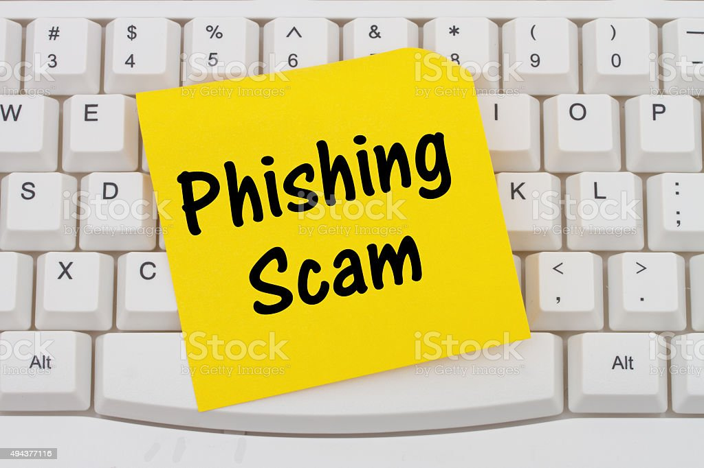 Phishing Scam stock photo