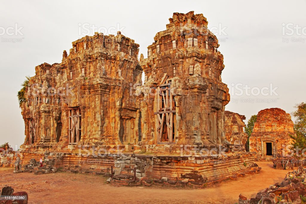 Phnom Krom Temple. Angkor archeological area. Cambodia stock photo