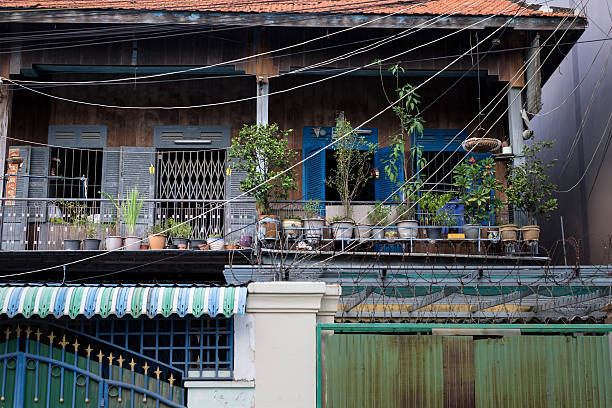Phnom Penh house Phnom Penh, Cambodia - December 4, 2015: A house in Phnom Penh. apostrophe stock pictures, royalty-free photos & images
