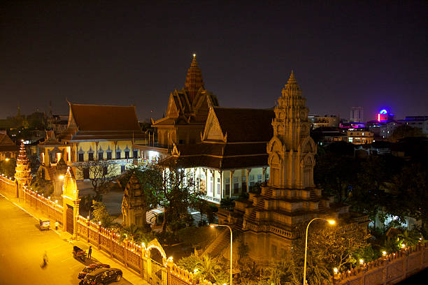 Phnom Penh Temple stock photo