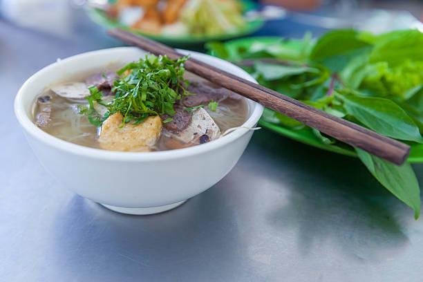Pho - famous vietnamse noodle soup stock photo