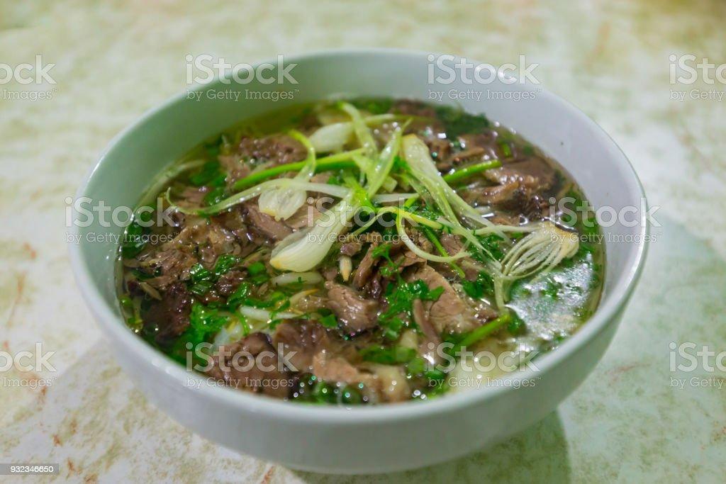 Pho - HaNoi streetfood stock photo