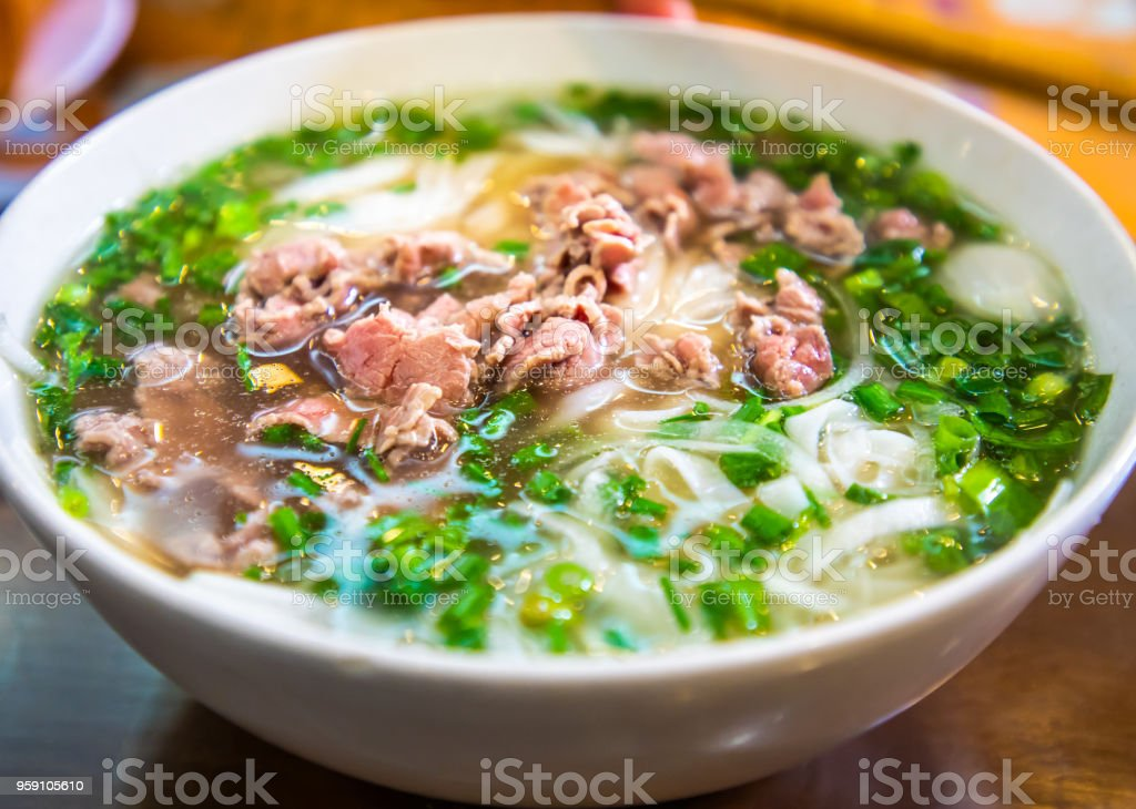 Pho in Ha Noi, Vietnam stock photo