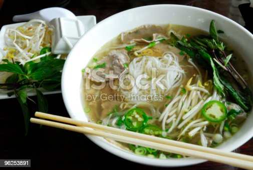 Vietnamese Pho noodles. Very popular and traditional rice noodles with spices.