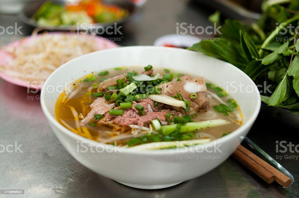 Pho - Saigon streetfood stock photo