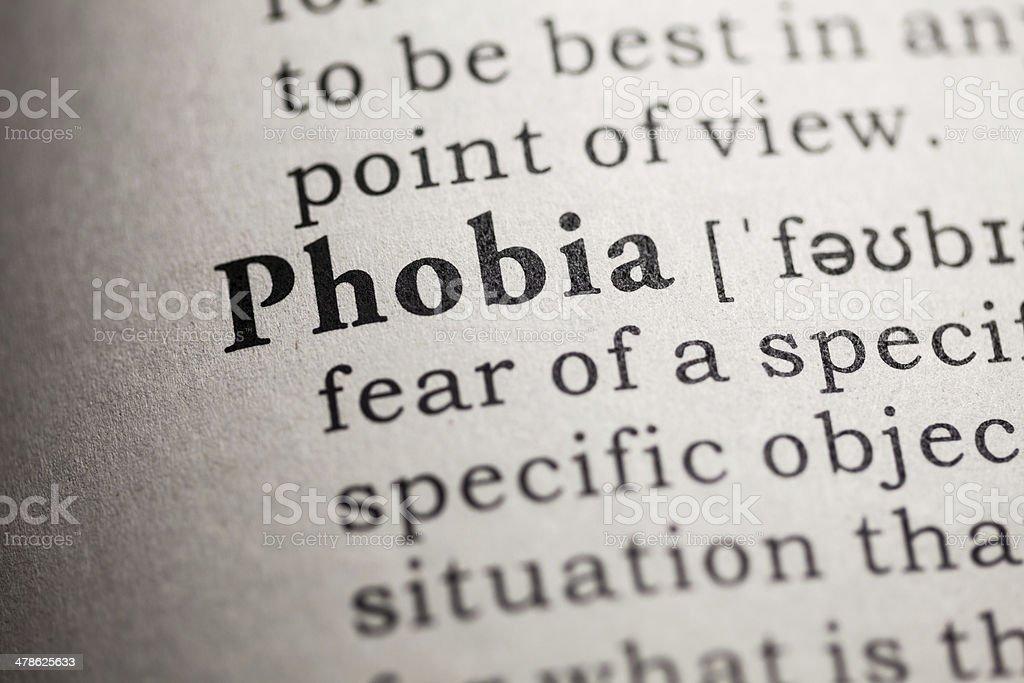 phobia stock photo