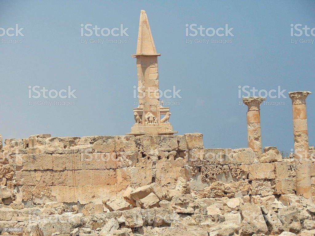 Phoenician Obelisk stock photo